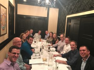 Members of the eOriginal and defi SOLUTIONS teams enjoying dinner at the 21st AFSA Conference